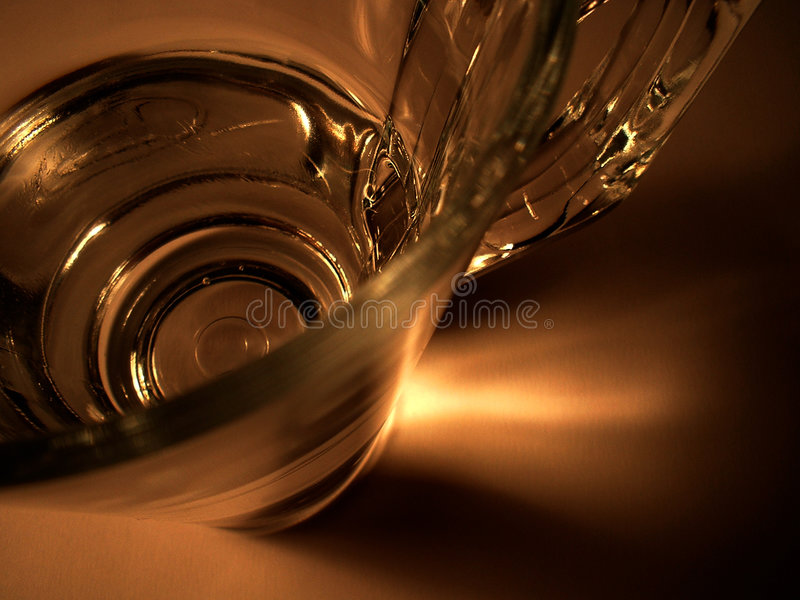 Close-up de um III de vidro foto de stock