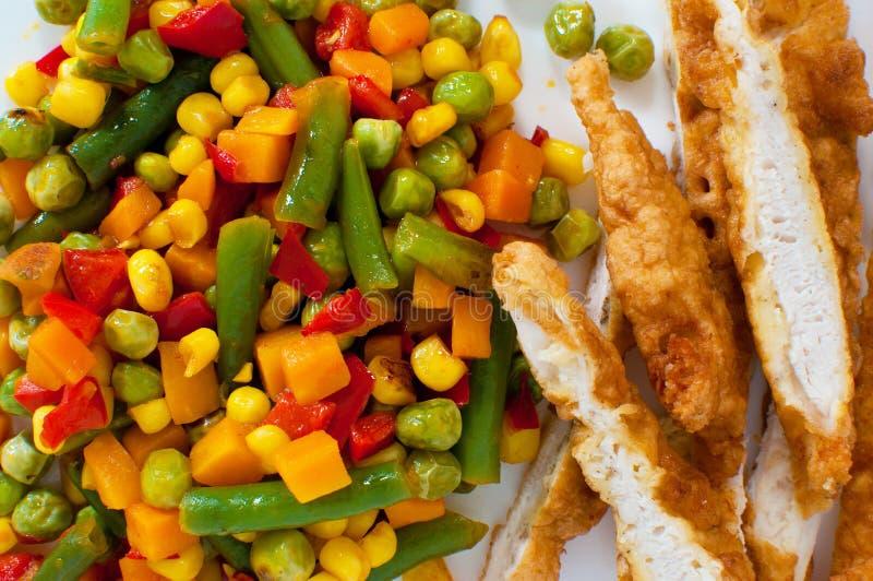 Close up de um jantar mexicano imagens de stock
