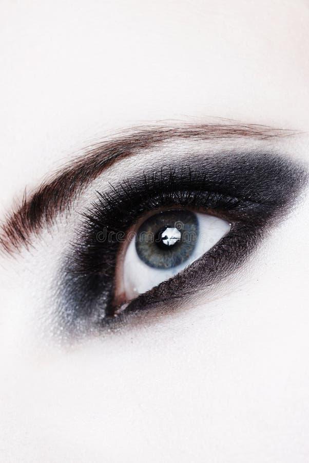 Close up de um olho com composição fotografia de stock