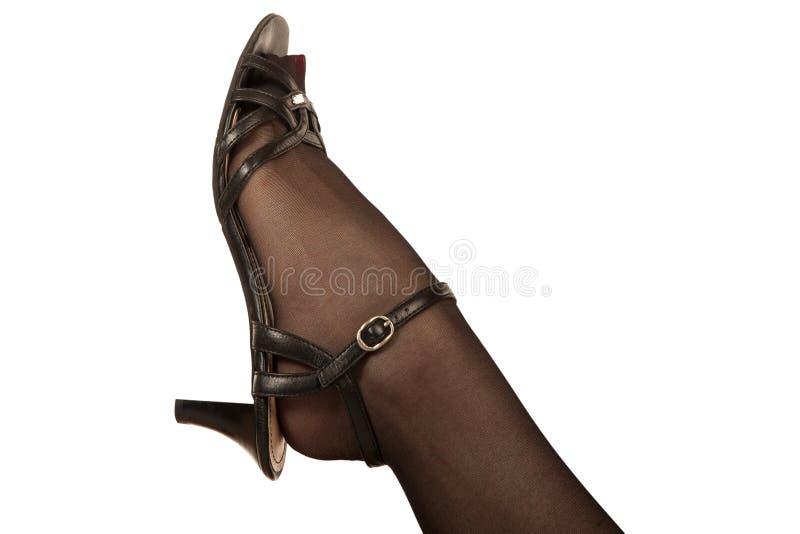 Close-up de um pé fêmea imagem de stock royalty free