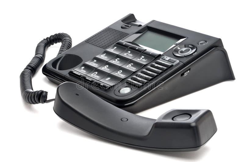 Close up de um telefone preto do negócio imagem de stock royalty free