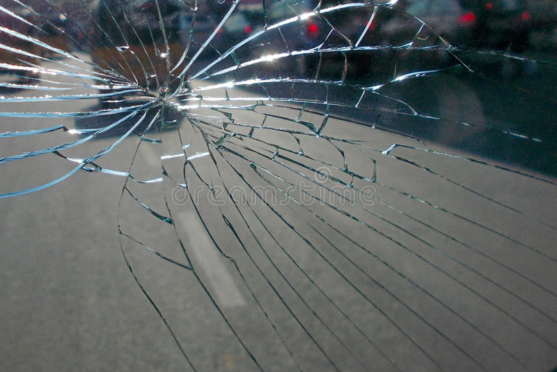 Close up de um vidro quebrado fotografia de stock royalty free