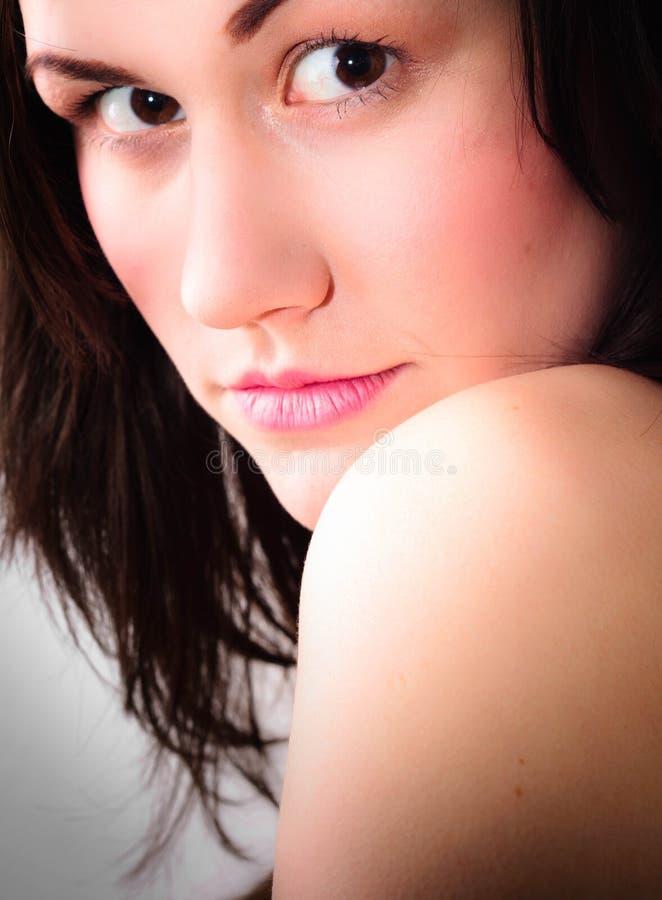 Close up de uma menina bonita imagem de stock royalty free