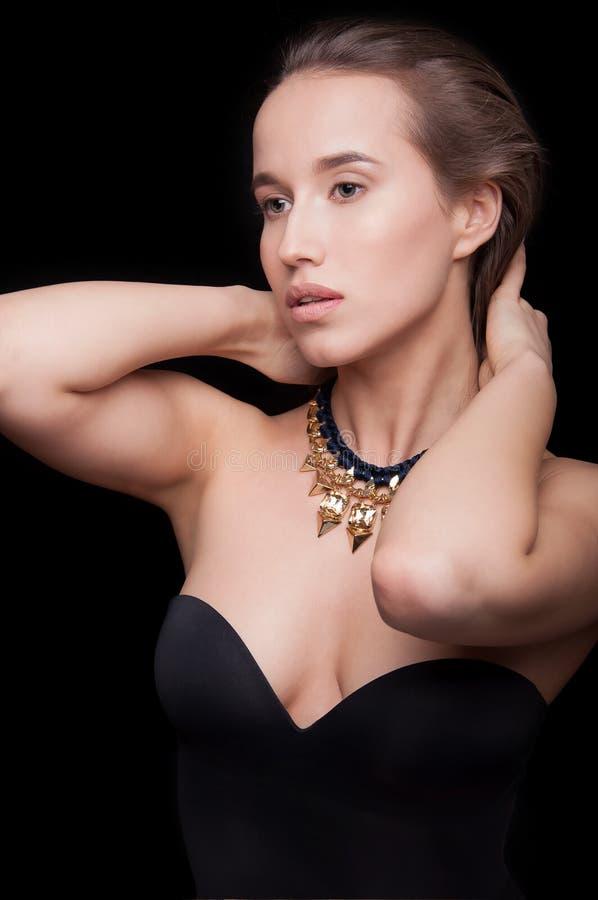 Close up de uma menina bonita fotos de stock royalty free