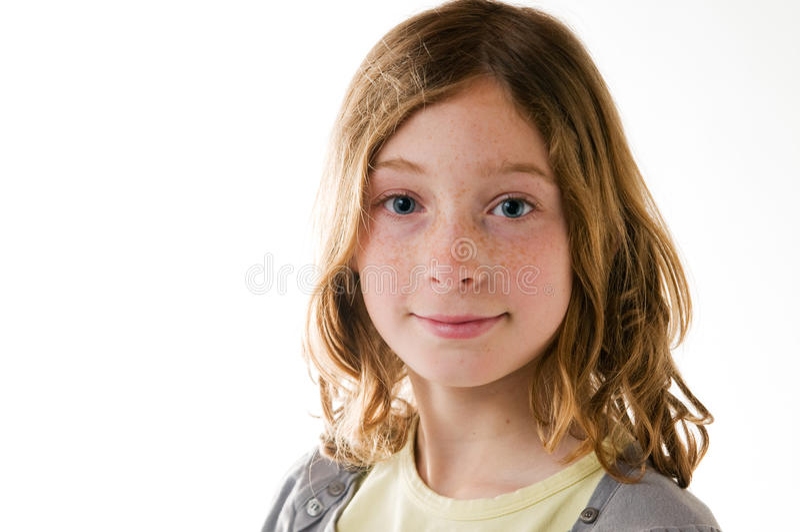 Close up de uma menina bonita do tween fotografia de stock