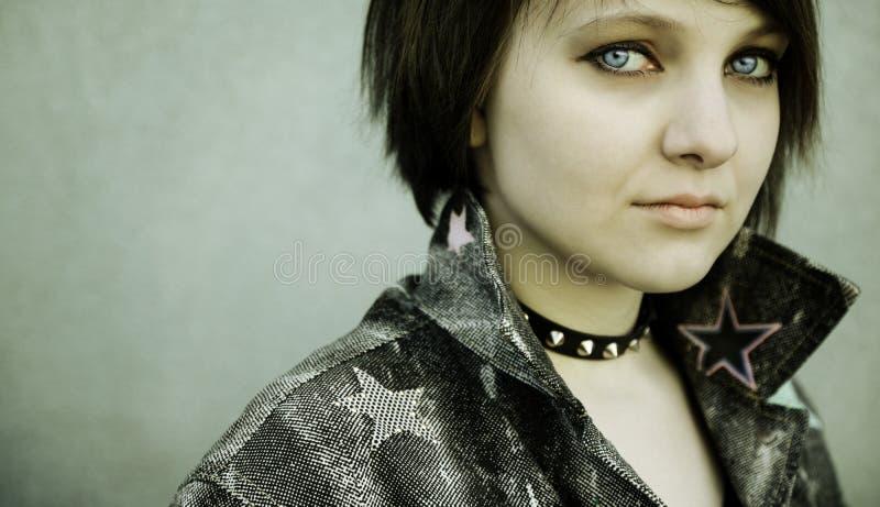 Close-Up de uma menina do punk foto de stock royalty free