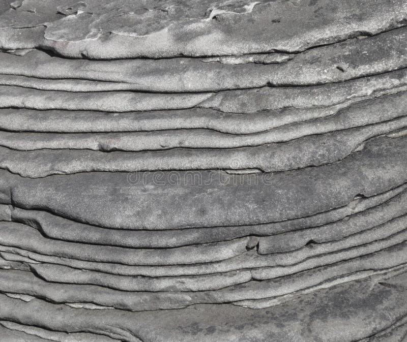 Close-up de uma seção da rocha sedimentar fotografia de stock