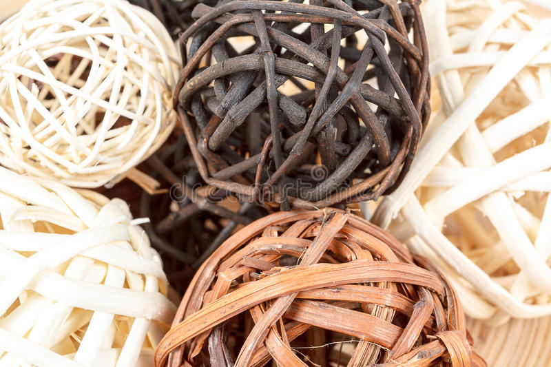 Wooden Decorative Balls Amazing A Decorative Wicker Wooden Balls Stock Image  Image 29907253 Inspiration Design