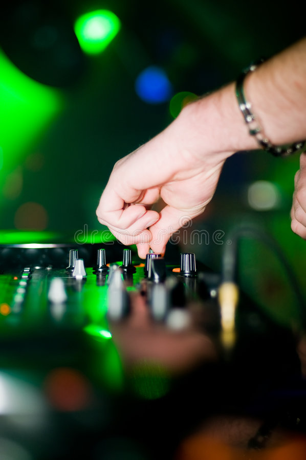 Download Close-up of deejay's hand stock image. Image of musician - 8842531