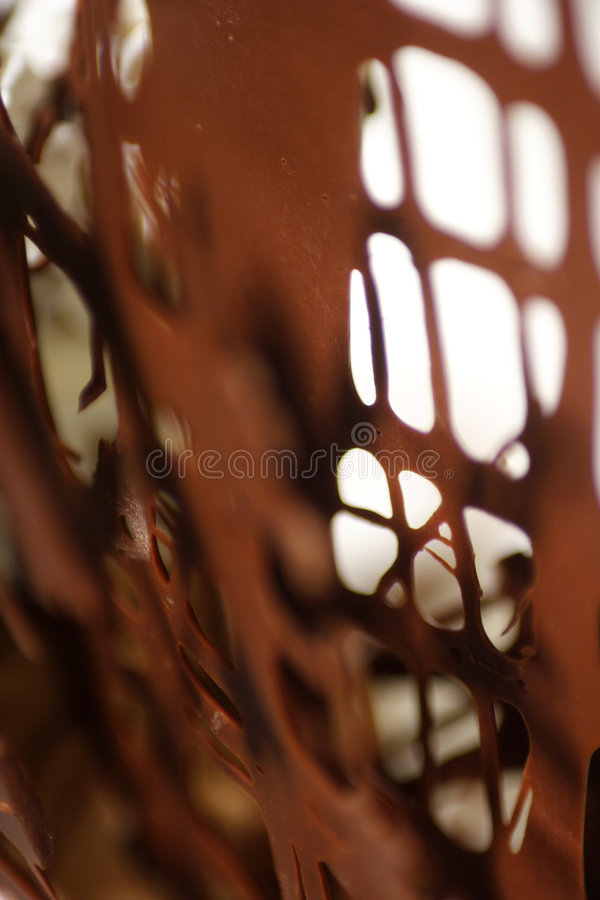 Close up of delicious chocolate dessert royalty free stock images