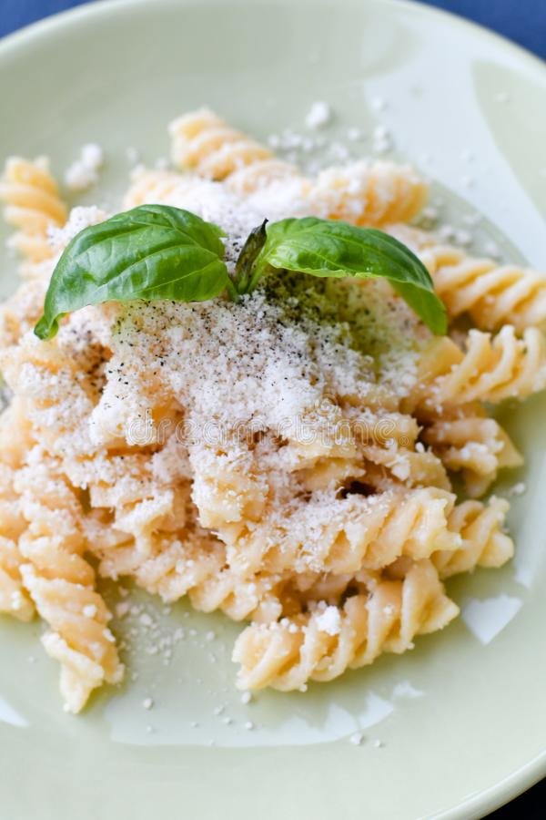 Fusilli Pasta stock photos