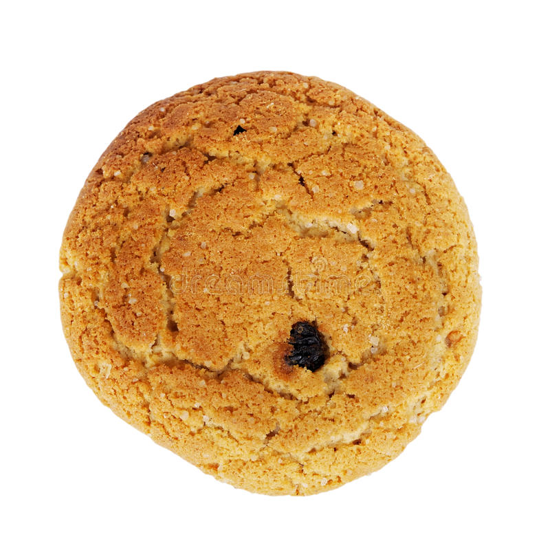 Close up delicious oatmeal cookie royalty free stock images
