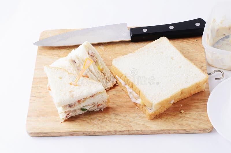 Delicious Tuna sandwichs homemade for food concept stock photos