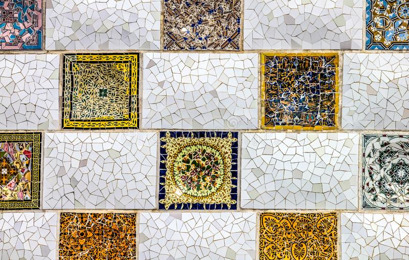 Close up detail of a Geometric mosaic royalty free stock photo