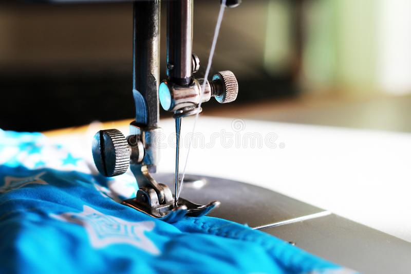 Close-up detail of the sewing machine stock photos