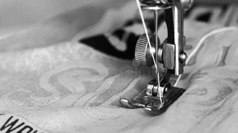 Close-up detail of the sewing machine royalty free stock photos