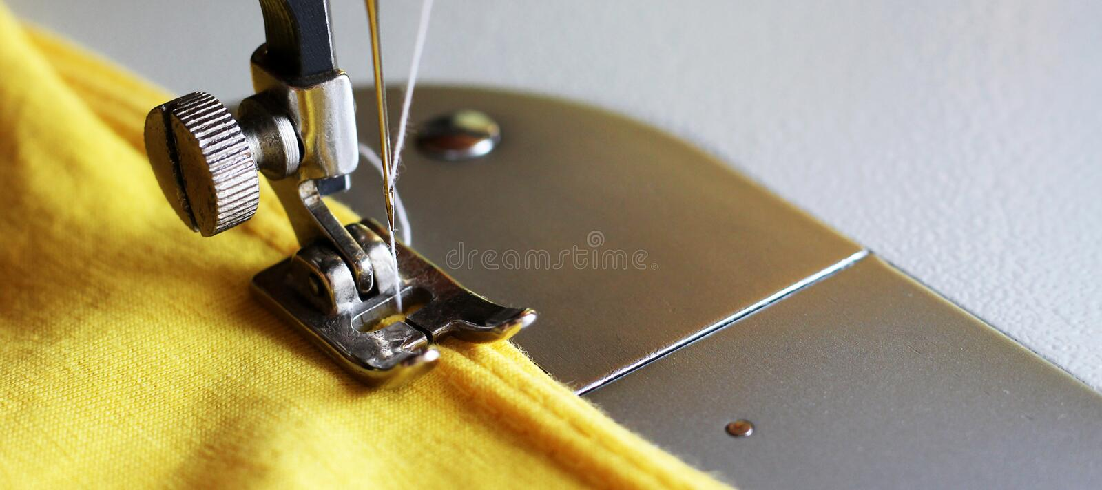 Close-up detail of the sewing machine royalty free stock images