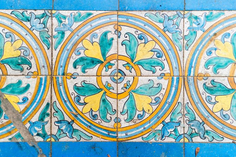 Vintage spanish tiles stock images
