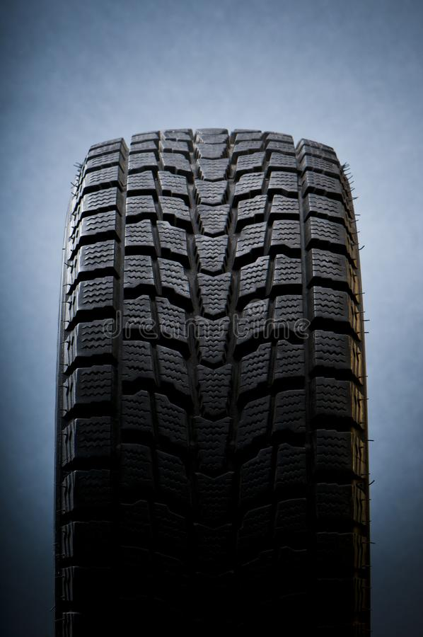 Close-up detail of winter tire royalty free stock image