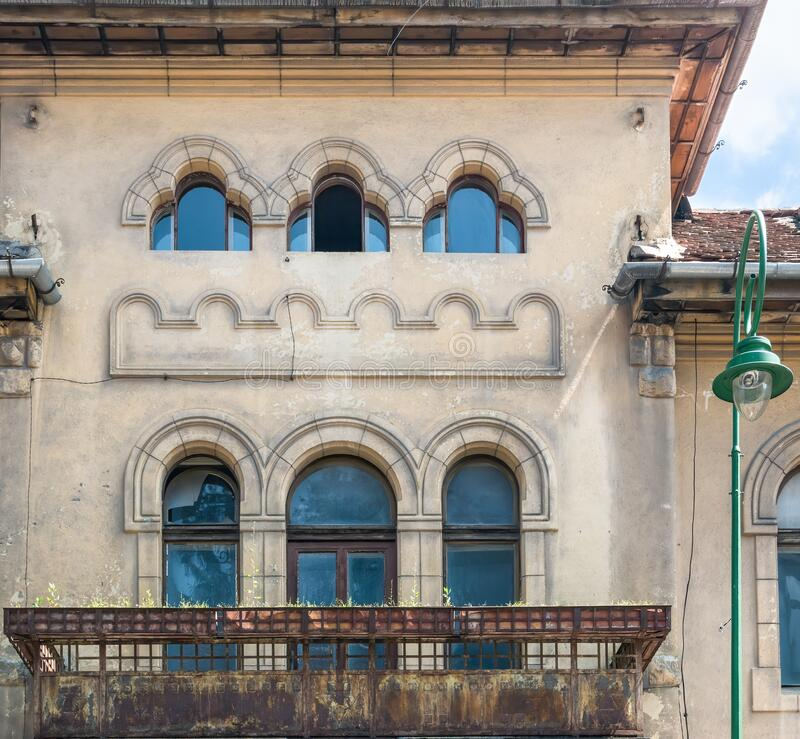 Free Close Up Detail With A Worn Out Old Medieval Building In The Center Of Brasov, Romania Royalty Free Stock Photo - 190529255