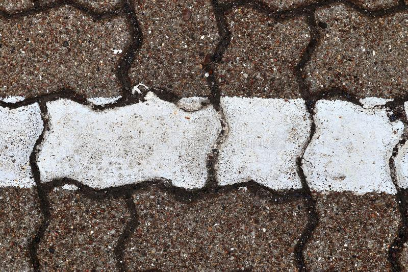 Close up detailed view on a cobblestone street pavement in high reoslution. Found in germany royalty free stock photo