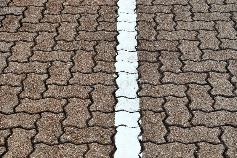 Close up detailed view on a cobblestone street pavement in high reoslution. Found in germany royalty free stock images