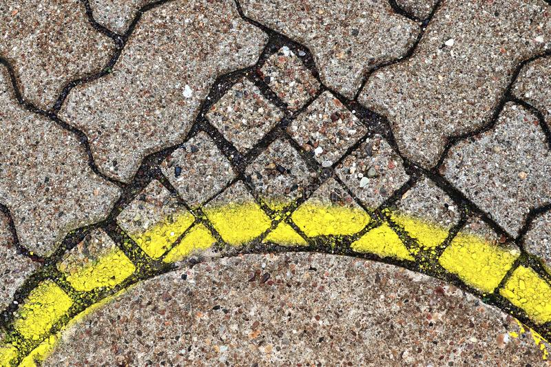 Close up detailed view on a cobblestone street pavement in high reoslution. Found in germany royalty free stock image