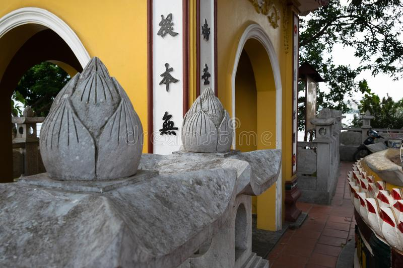Close up of the details on the ancient vietnamese architecture. Vietnam., south asia royalty free stock photos