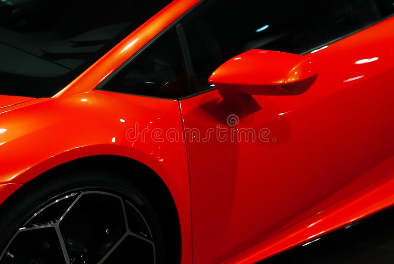 Close-up details of a sports car royalty free stock images