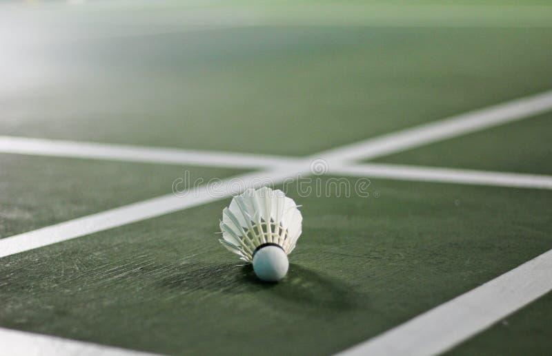 Close up detalhado de um shuttlecock do badminton imagens de stock