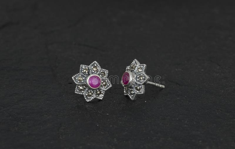 Daimond Earring stock photo