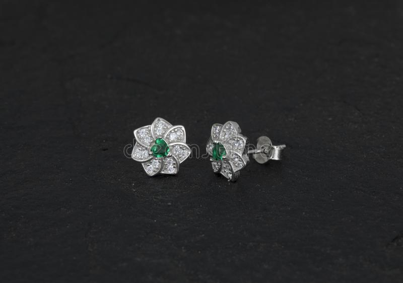 Daimond Earring stock photography