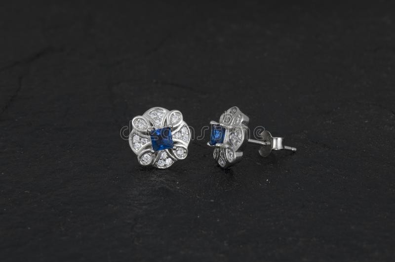 Daimond Earring royalty free stock photography