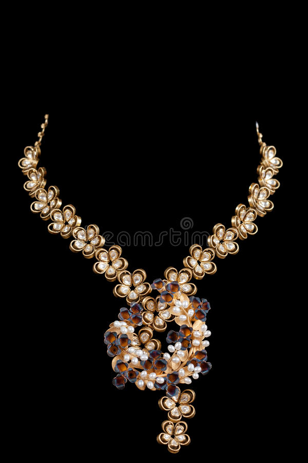 Close up of diamond necklace royalty free stock photo