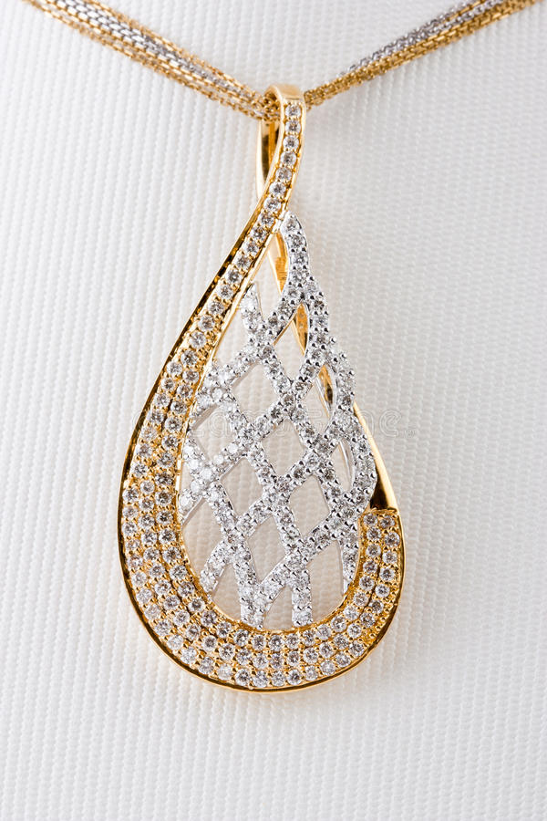 Close up of diamond pendant royalty free stock photo