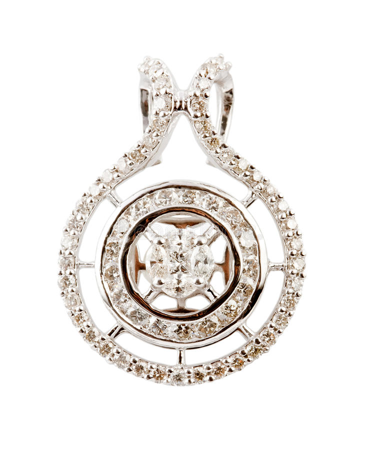 Close up of diamond pendant or earring royalty free stock image