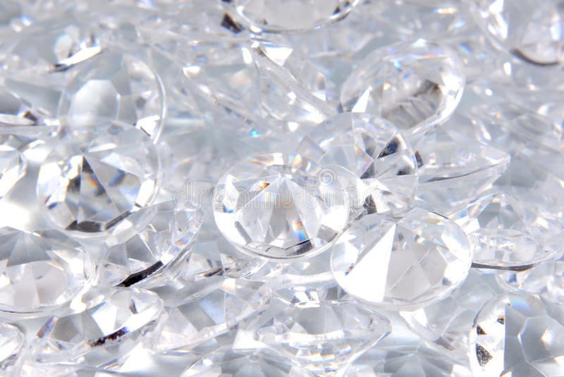 Close up of the diamonds royalty free stock photography