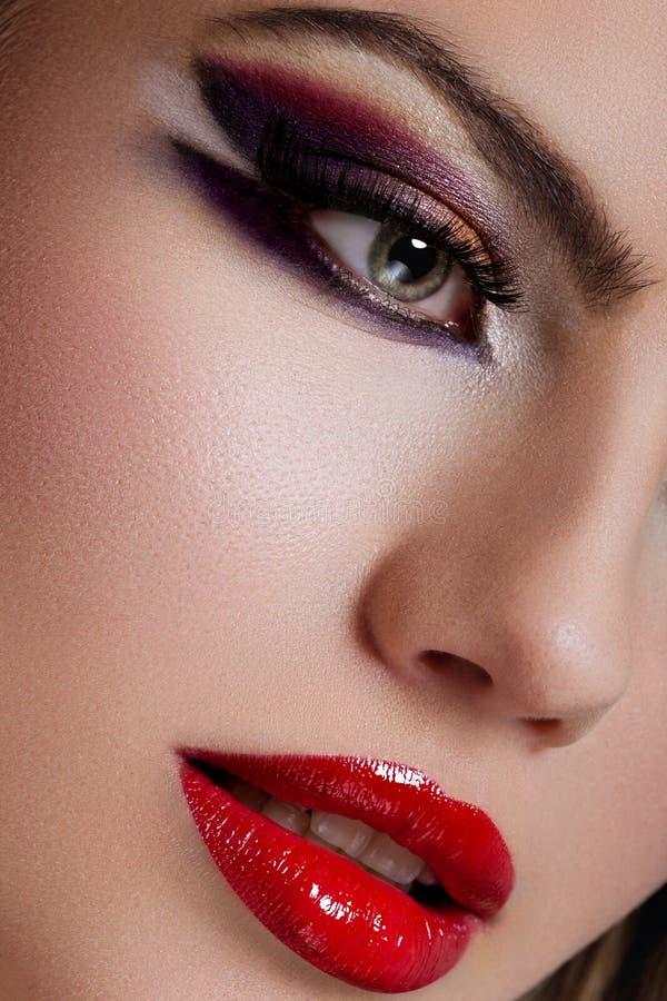 Close-up die van make-up is ontsproten stock foto's