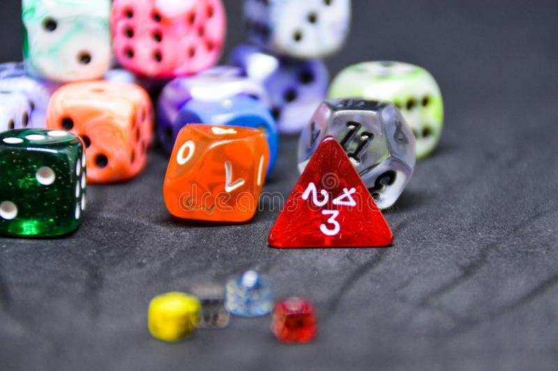 Dices sizes stock photo
