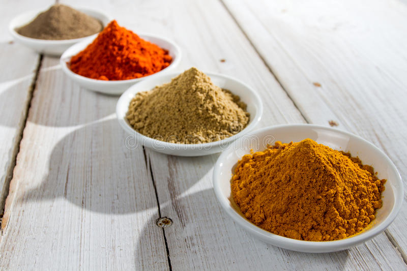 Close-up of different spices stock photography