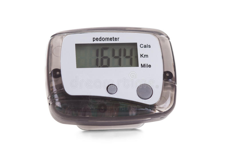 Close-up Of Digital Pedometer stock images