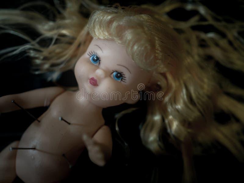 Baby doll voodoo royalty free stock photo