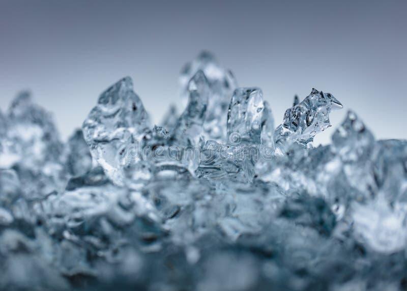Close up disparado do gelo gelado bonito imagens de stock royalty free