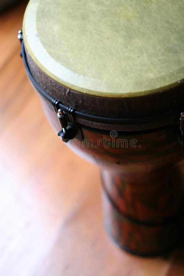 Close Up of a Djembe Head 7 stock image