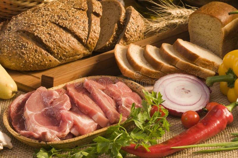 Close-up do alimento do pão imagens de stock