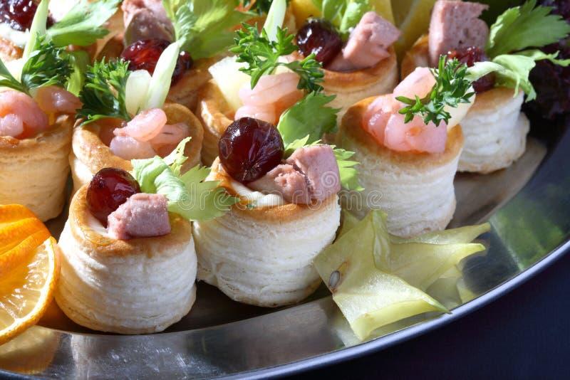 Close up do alimento do partido imagens de stock royalty free
