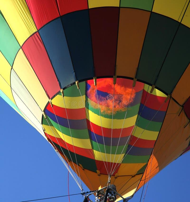 Close up do balão de ar quente fotografia de stock