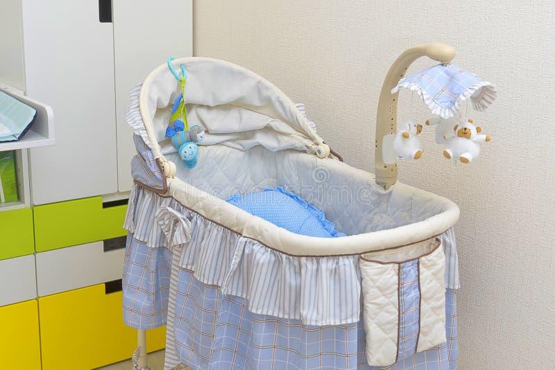 Close-up do berço do bebê foto de stock royalty free