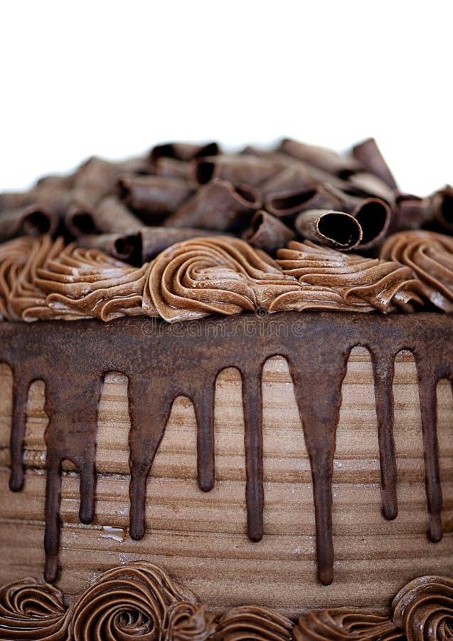 Close-up do bolo de chocolate fotografia de stock royalty free