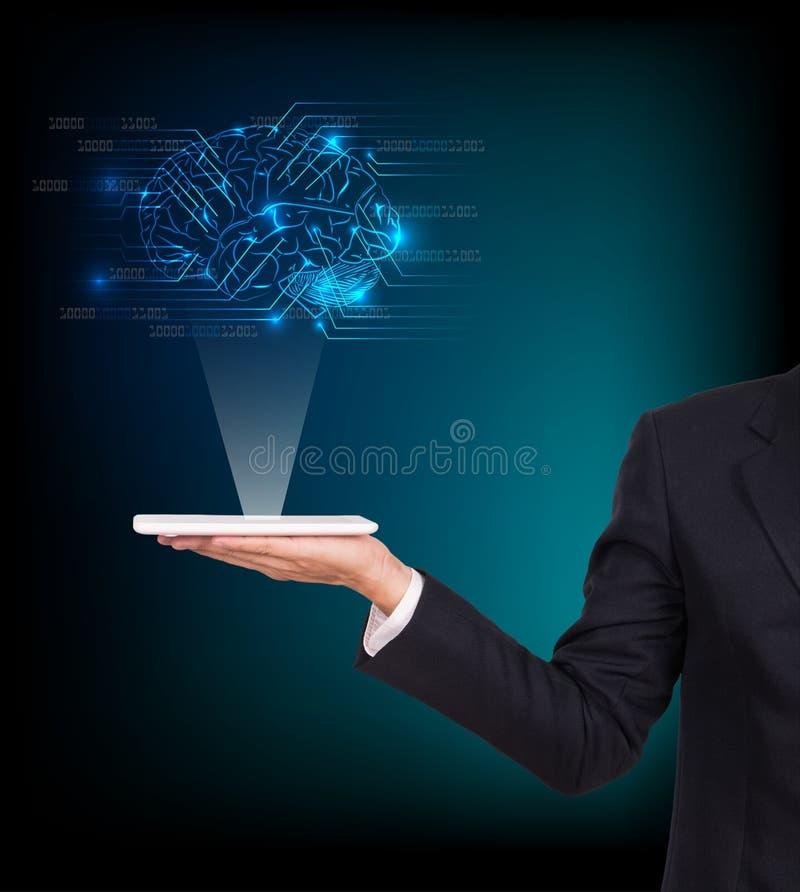 Close-up do cérebro do homem de negócio imagens de stock